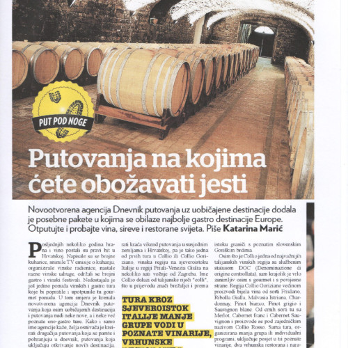 Dobra hrana, Jutarnji list 03.11.2013., str. 1
